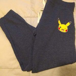 Poke'mon Blue Drawstring Sweatpants